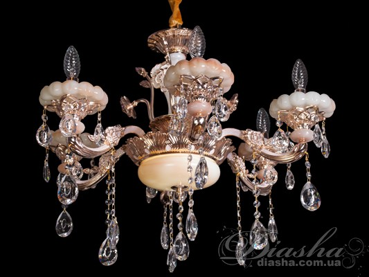 Элегантная хрустальная люстра со светодиодной подсветкойЛюстры классика, Хрустальные люстры