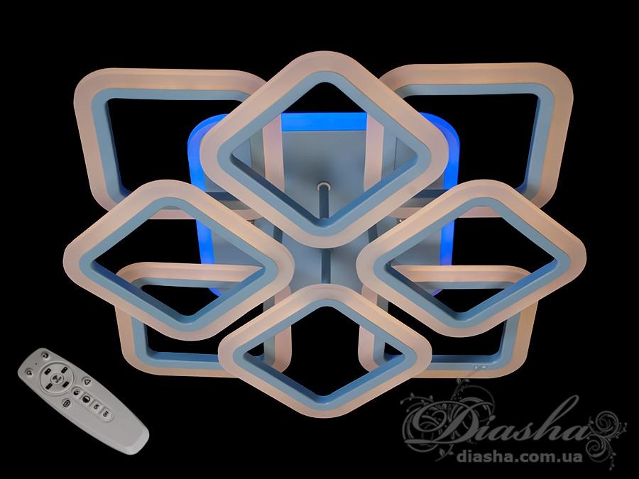 Потолочная LED-люстра с диммером и подсветкой, 105WПотолочные люстры, Светодиодные люстры, Люстры LED, Потолочные, Новинки