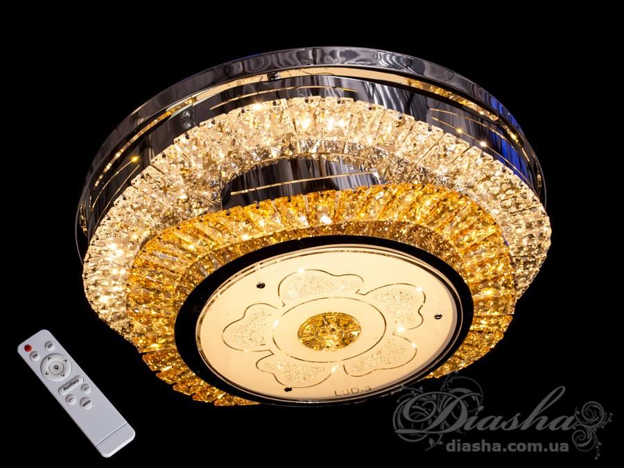 Хрустальная люстра с диммером, 115WСветодиодные люстры, Люстры LED, Подвесы LED