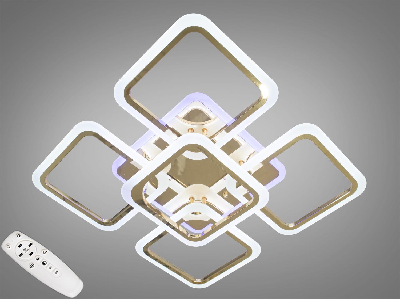 Потолочная люстра с диммером и LED подсветкой, цвет золото, 120WСерия
