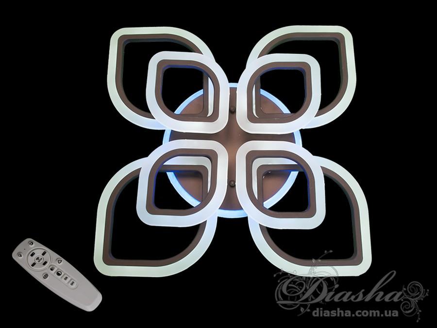 Потолочная LED-люстра с диммером и подсветкой, 140WПотолочные люстры, Светодиодные люстры, Люстры LED, Потолочные