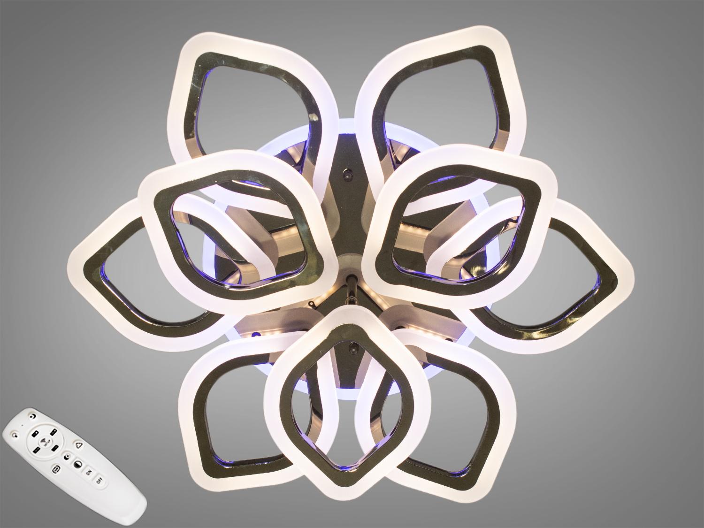 Потолочная люстра с диммером и LED подсветкой, цвет хром, 125WПотолочные люстры, Светодиодные люстры, Люстры LED, Потолочные, Новинки