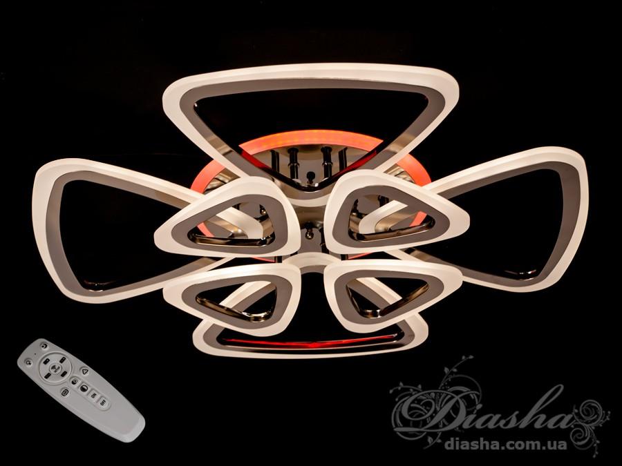 Потолочная LED-люстра с диммером и подсветкой, 145WПотолочные люстры, Светодиодные люстры, Люстры LED, Потолочные, Новинки