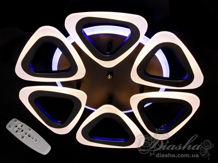 Потолочная люстра с диммером и LED подсветкой, 80WПотолочные люстры, Светодиодные люстры, Люстры LED, Потолочные, Новинки
