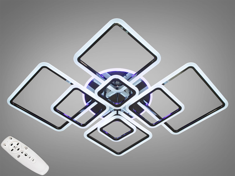 Потолочная LED-люстра с диммером и подсветкой, 235WПотолочные люстры, Светодиодные люстры, Люстры LED, Потолочные, Новинки