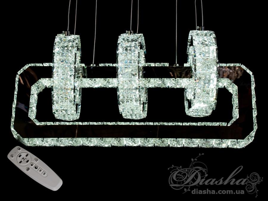 Хрустальная светодиодная люстра-подвес, 90WСветодиодные люстры, Люстры LED, Подвесы LED, Новинки