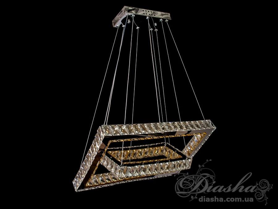 Если Вы хотите украсить Ваше жилье светильниками, выполненными в одном стиле, то в этом Вам поможет предлагаемое ТМ «Диаша» разнообразие размеров и форм светодиодных люстр. Представляемые Вам люстры являются флагманом на рынке люстр украины. Данная модель укомплектована светодиодными лампами мощностью 40Вт. Что позволяет осветить комнату 8-12 метров даже без установки дополнительных врезных светильников. В комплекте с люстрой идёт самый современный тип пульта с электронным диммером и регулятором цвета. С пульта можно включить один из предустановленных режимов освещения - тёплый свет, холодный свет, нейтральный; включить режим