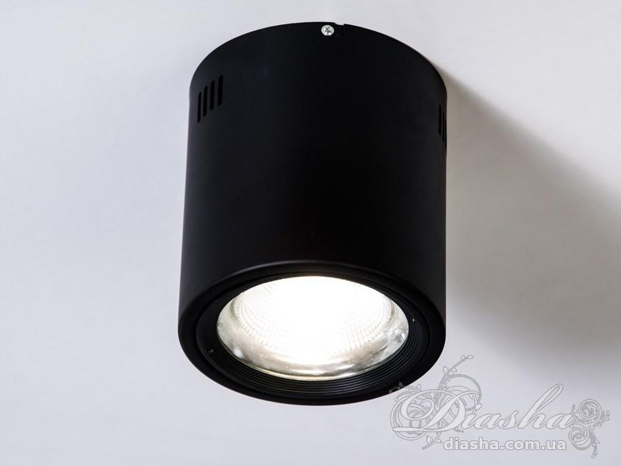 Накладной светодиодный точечный светильник 20WLED downlights, Источники направленного света, Точечные светильники, Подсветка для витрин, Накладные точечные светильники, Светильники-тубы, Новинки