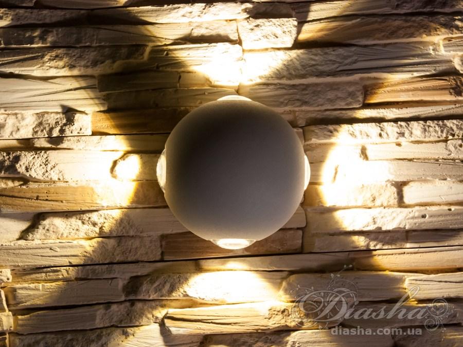 Четырёхлучевой фасадный LED светильник 12WФасадные светильники, LED светильники, уличные светильники, Архитектурная подсветка