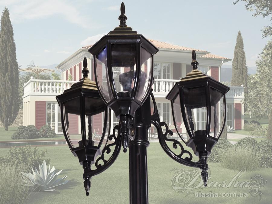Фонарь садово-парковый на 3 рожкасадовые светильники, уличные светильники, Фонари парковые