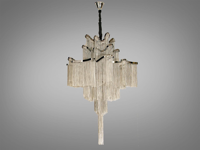 Современная классическая люстра с цепочками, на 12 лампЛюстры классика, Хрустальные люстры