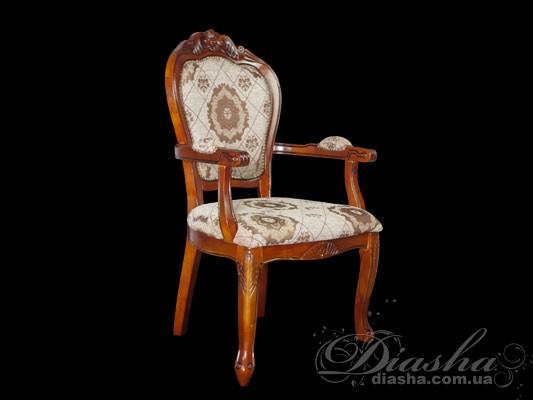 Классическое кресло из натурального дерева, с мягкой обивкойСтулья, Мебель для гостиной