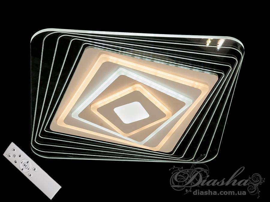 Потолочная светодиодная панель с диммером 100WПотолочные люстры, Светодиодные люстры, Люстры LED, Потолочные, светодиодные панели, Новинки