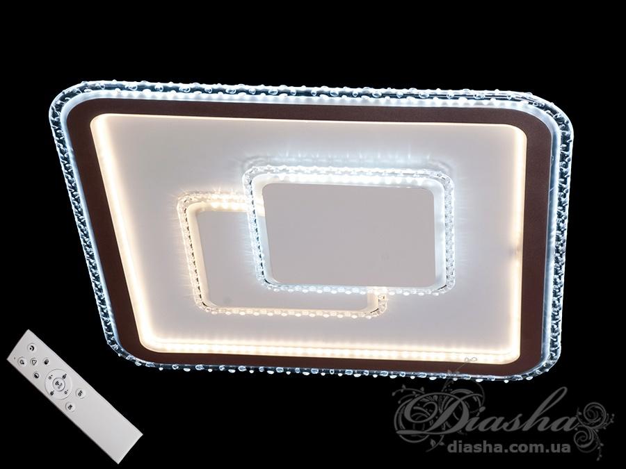 Потолочная светодиодная панель с диммером 110WПотолочные люстры, Светодиодные люстры, Люстры LED, Потолочные, светодиодные панели, Новинки