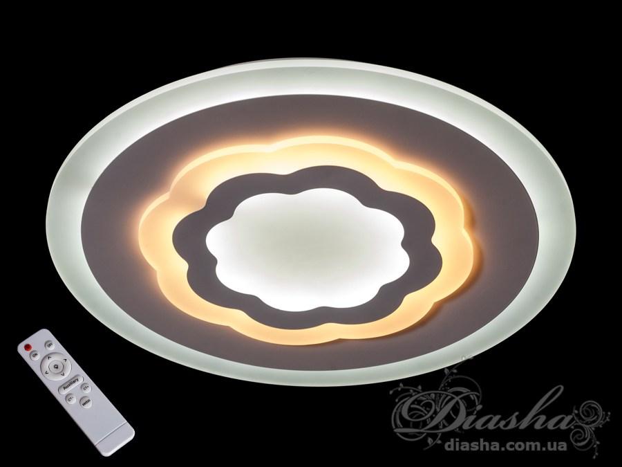 Потолочная светодиодная люстра с диммером 70WПотолочные люстры, Светодиодные люстры, Люстры LED, Потолочные, светодиодные панели