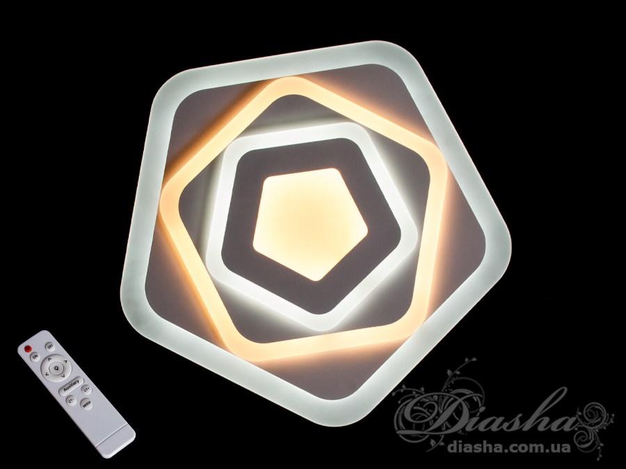 Потолочная светодиодная люстра с диммером 85WПотолочные люстры, Светодиодные люстры, Люстры LED, Потолочные, светодиодные панели
