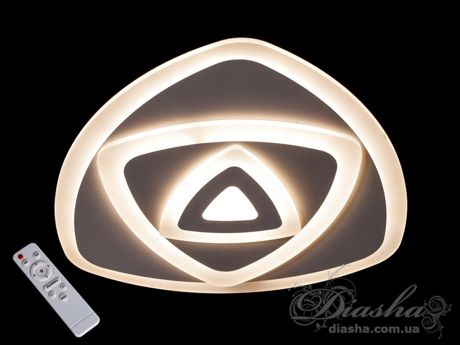 Потолочная светодиодная люстра с диммером 75WПотолочные люстры, Светодиодные люстры, Люстры LED, Потолочные, светодиодные панели