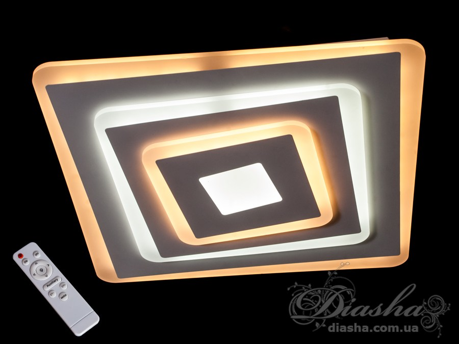 Потолочная светодиодная люстра с диммером 105WПотолочные люстры, Светодиодные люстры, Люстры LED, Потолочные, светодиодные панели