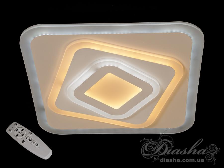Светодиодный светильник с пультом и диммером 100WПотолочные люстры, Светодиодные люстры, Люстры LED, Потолочные, светодиодные панели