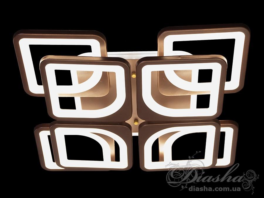 Потолочная LED-люстра с диммером и подсветкой, 130WПотолочные люстры, Светодиодные люстры, Люстры LED, Потолочные