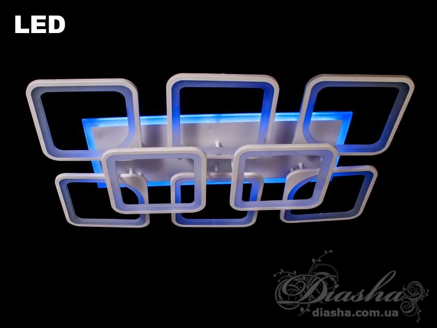 Сверхъяркая светодиодная люстра с цветной подсветкой 230WПотолочные люстры, Светодиодные люстры, Люстры LED, Потолочные, Новинки