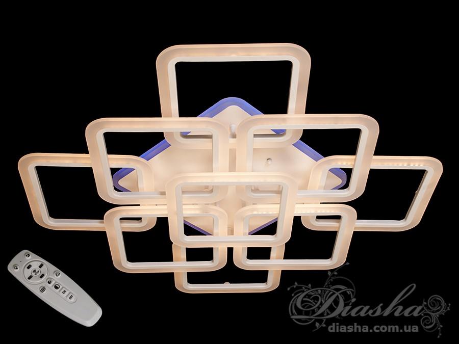 Потолочная LED-люстра с диммером и подсветкой, 190WПотолочные люстры, Светодиодные люстры, Люстры LED, Потолочные, Новинки
