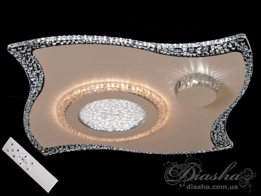 Потолочная светодиодная люстра с диммером 76WПотолочные люстры, Светодиодные люстры, Люстры LED, Потолочные, светодиодные панели, Новинки