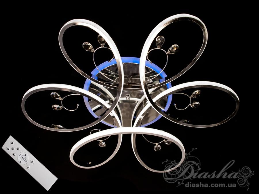 LED люстра с димером и подсветкой, 120WПотолочные люстры, Светодиодные люстры, Люстры LED, Потолочные, Новинки