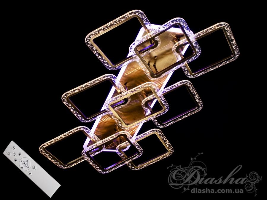 Потолочная светодиодная люстра с диммером 210WПотолочные люстры, Светодиодные люстры, Люстры LED, Потолочные, Новинки