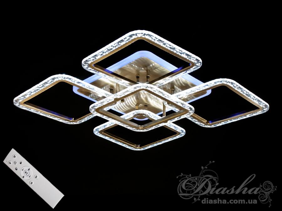 Потолочная светодиодная люстра с диммером 100WПотолочные люстры, Светодиодные люстры, Люстры LED, Потолочные, Новинки