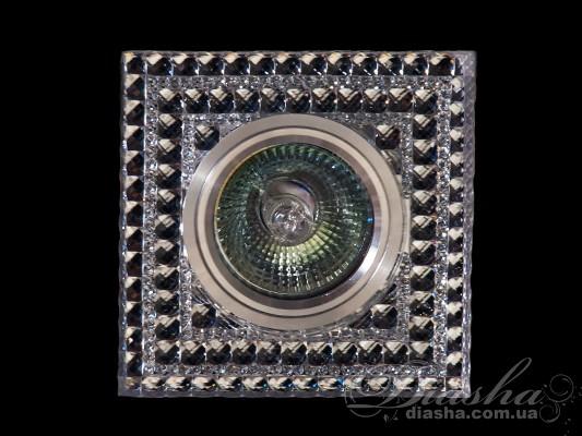 Обычно точечные светильники предназначаются для подвесных потолков и для подсветки различных нишили рабочей поверхности. Конструктивно точечный светильник состоит из двух частей: видимой - декоративной и встроенной – функциональной. Функциональная часть светильников состоит из каркаса, куда вставляется источник света и крепится декоративная часть, а также зажимов, которые предназначены для крепления светильника к потолку. Разнообразие декоративной части точечных светильниковпозволяет сделать Ваш интерьер неповторимым. Главные качества современных точечных светильников – это равномерное освещение всего помещения с возможностью акцентирования необходимых деталей интерьера. Точечные светильники произведенные из оптической смолы лучшее решение для натяжных потолков. Лёгкий корпус с оптическими характеристиками близкими к хрусталю. Стойкий к механическим повреждениям. Большой выбор моделей и цветов светильников. Для оптовых покупателей отпускается только ящиками по 50шт. Лампа и трансформатор в комплект не входят.