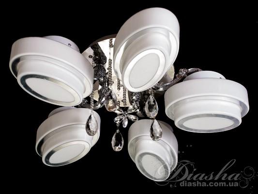 Современная потолочная люстраПотолочные люстры с плафонами, Люстры классика, Модерн, Светодиодные