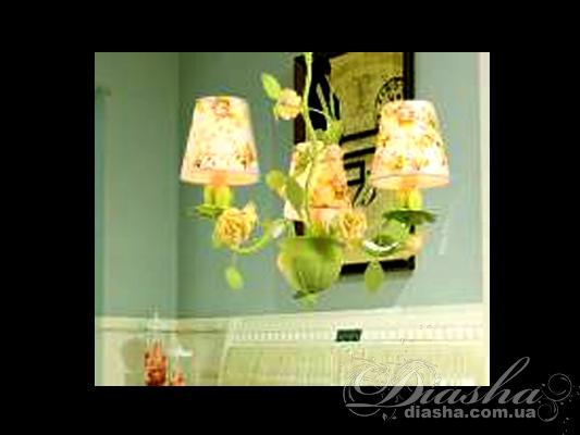 Классическая цветочная люстра на 3 лампыЛюстры с абажурами, Люстры прованс, Люстры классика, Цветочная серия, Поступление 01-11-2015