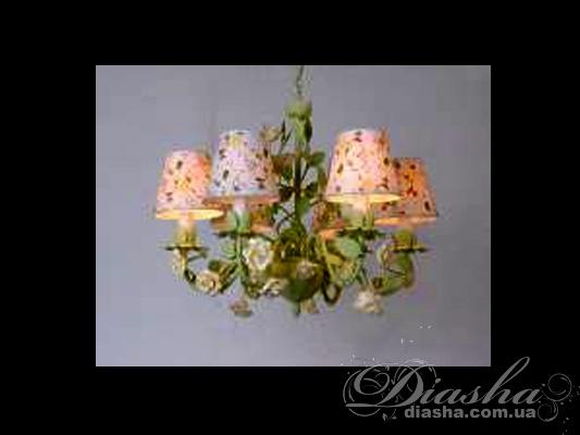 Классическая цветочная люстра на 5 лампЛюстры с абажурами, Люстры прованс, Люстры классика, Цветочная серия, Поступление 01-11-2015