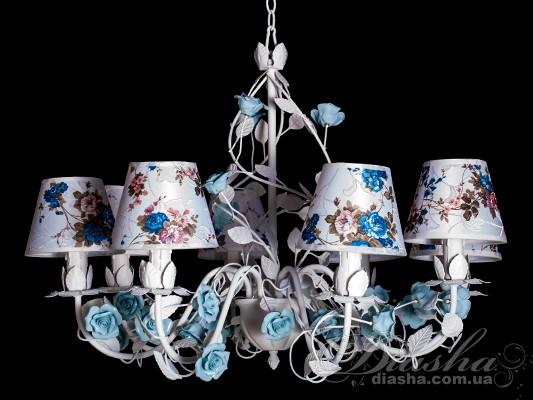Классическая цветочная люстра на 8 лампЛюстры с абажурами, Люстры прованс, Люстры классика, Цветочная серия