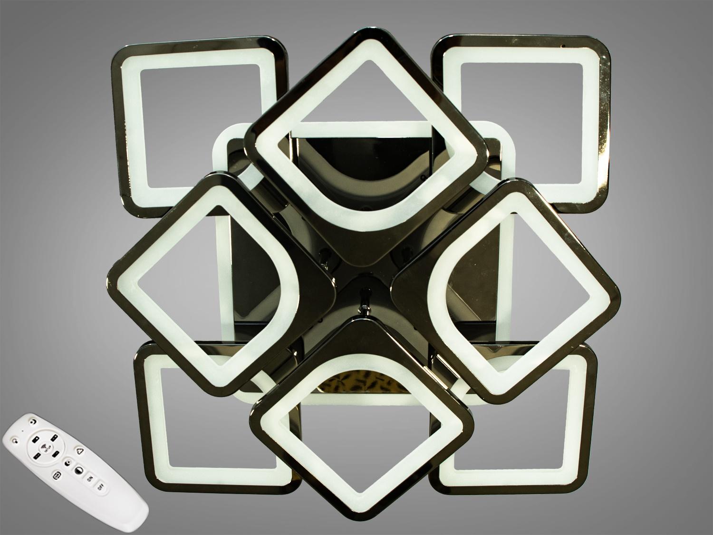 Встречайте самую хитовую модель в хромированном исполнении! Светодиодная люстра имеет несколько режимов: холодный 6400К, нейтральный 4500К, тёплый 2700К, синяяLEDподсветка,совмещённый режим — любой основной свет плюс светодиодная подсветка — всё зависит от вашего настроения! Потолочный светильник имеет электронный димер, что позволяет регулировать яркость люстры от 5% до 100% при помощи пульта, который поставляется вместе с люстрой. В дополнение к стандартным режимам светодиодной люстры, добавлен режим цветной подсветки. Люстра способна наполнить комнату приятным цветным переливом - за 2 минуты в режиме подсветки люстра проходит все цвета радуги. Светодиодные люстры этой серии стали идеальным светильником в детскую. Отсутсвие стеклянных частей и припотолочная компоновка люстры позволяет пережить ей любое детское веселье, а приятный многоцветный свет можно смело оставлять как ночник. Люстра светит ярко, но не слепит за счёт материала — акрила, к тому же этот материал очень прочен — его трудно повредить. Лёгкий вес, небольшая высота, оригинальный дизайн с хромированными частями, пульт, димер, дополнительная подсветка — вам обязательно понравятся наши люстры!