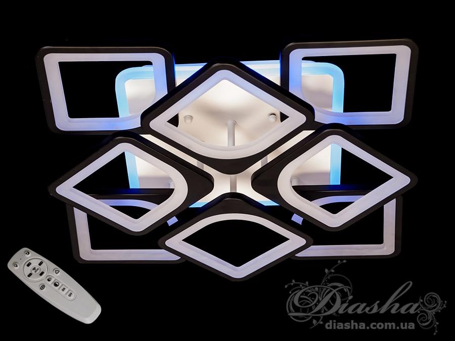 Потолочная LED люстра с димером и цветной подсветкой 165WСерия