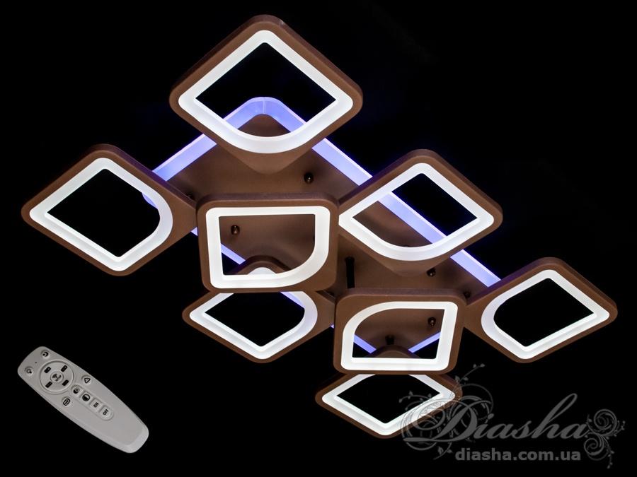 Потолочная люстра с диммером и LED подсветкой, цвет золото, 160WСерия