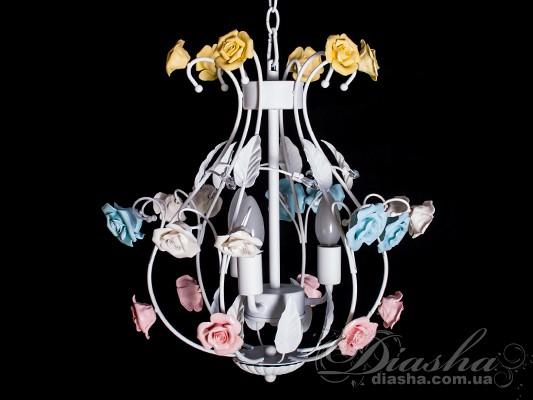Классическая цветочная люстра на 3 лампыЛюстры прованс, Люстры классика, Цветочная серия