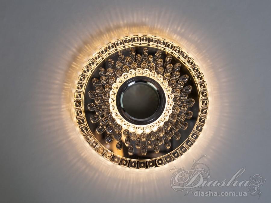 Хрустальный точечный светильник со встроенной LED подсветкойВрезка, Точечные светильники, Хрустальные точечные светильники, Точечные светильники MR-16, Новинки